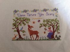 Distractify | 31 Gangster Cross-Stitches That Would Make Your Grandmother Proud