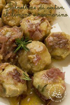 Polpettine di seitan al limone e rosmarino (cucina vegan)