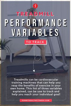 We know that there are a lot of variables you can track on a decked-out treadmill. So, we made a list of three variables you can track to reach your individual running goal. #sunnyhealthfitness #treadmill #treadmillperformance #performancevariables #workoutstats