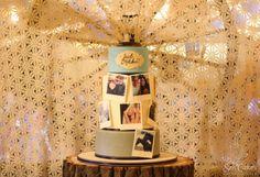Edible Photo Wedding Cake
