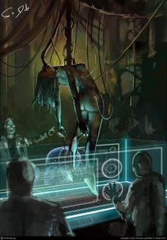lab, sci-fi, holo display, technicians,   476456_1350473130_large.jpg (1131×1626)