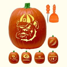 Dawgwear - UGA Merchandise and Bulldog Apparel, University of Georgia Bulldogs Alumni Store: UGA 6 Designs Pumpkin Carving Kit