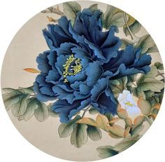 Chinese Peony x x Painting. Buy it online from InkDance Chinese Painting Gallery, based in China, and save Peony Painting, China Painting, Silk Painting, Watercolor Flowers, Chinese Flowers, Japanese Flowers, Japanese Painting, Japanese Art, Blue Peonies