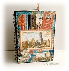 Cestovatelský+deník+s+knižní+záložkou+a+doplňky+Společník+na+dovolenkové+toulky+světem!+Kompletně+vlastnoručně+dělaný+zápisník+v+retro+stylu+velikosti+A5+s+tvrdými+deskami+z+knihařské+lepenky+a90+listy,+svázanýkroužkovou+vazbou+starostříbrnébarvy.+Uprostřed+je+navázán+malý+bloček+s+20+listy+pro+drobné+poznámky,+postřehy,+citáty...Většina+listů+je...