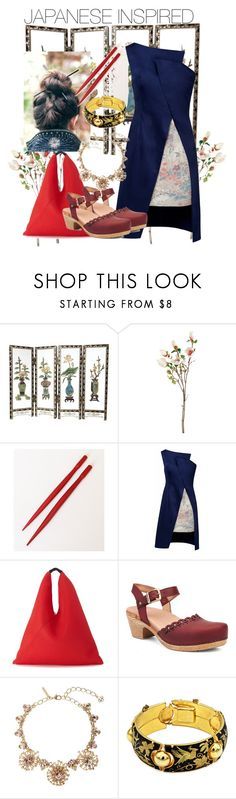 """""""JAPANESE INSPIRED"""" by chere18 ❤ liked on Polyvore featuring Napa Home & Garden, Lemiché, MM6 Maison Margiela, Dansko and Oscar de la Renta"""