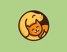 Behance is the world's largest creative network for showcasing and discovering creative work Dog Logo Design, Cat Design, Creative Illustration, Illustration Art, Axolotl Cute, Zoo Logo, Golden Retriever Art, Scratchboard Art, Pet Vet