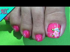 Super nails french tip flowers ideas Pedicure Nail Art, Toe Nail Art, Nail Manicure, Toe Nails, Flower Pedicure Designs, Toe Nail Designs, French Nails, Cross Nails, New Nail Art Design