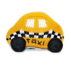 ESTELLA HAND-KNIT TAXI RATTLE