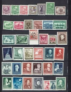 European countries - Collection of stamps from Luxembourg, Liechtenstein and Austria