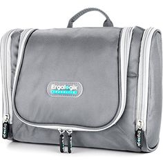 NEW ErgaLogik TraveLite Premium Professional Travel Toiletry Bag Silver -- Want to know more, click on the image. (Note:Amazon affiliate link)