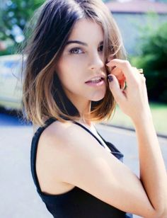 A long bob hairstyle with subtle Ombré colour. http://beautyeditor.ca/2014/12/04/hairstyles-for-dark-brown-wavy-hair