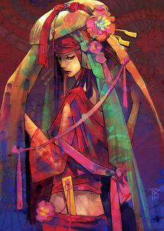 Geisha by ~gtako on deviantART