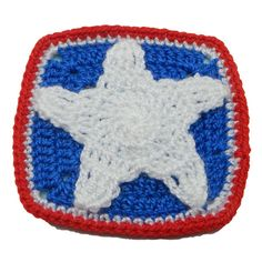 Dancing Star Fridgie - A free Crochet pattern from jpfun.com.