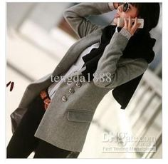 Wholesale Fit Coats - Buy - New Fashion Women Girls Slim Fit Coats Long Sleeve Overcoat Casual Outwear, $26.14 | DHgate