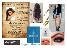 """Daughter of Poseidon Camp Half-Blood ID"" by lostprincessofthesea ❤ liked on Polyvore featuring moda, NARS Cosmetics ve S.W.O.R.D."