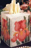 Breath of Spring Plastic Canvas Tissue Box Cover Pattern ePattern