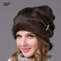 >> Click to Buy << Winter hats fur glow sticks and diamond jewelry fashion women real mink fur hat DHY-67 #Affiliate