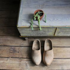vintage wooden clogs