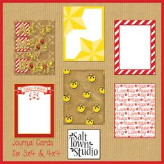 All is Merry and Bright - Journal Cards- SALT TOWN STUDIO IS A GREAT SOURCE OF BEAUTIFUL SCRAPBOOKING KITS AND AEVERYTHING IS FREE1