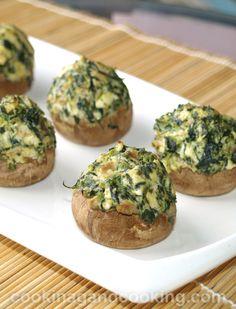 Spinach-Stuffed-Mushrooms