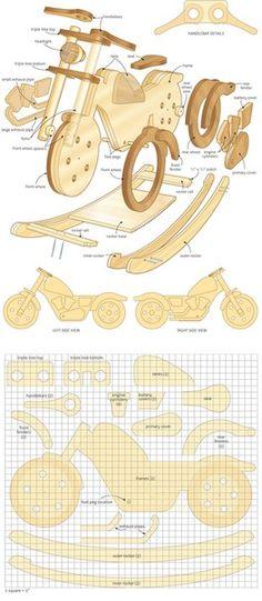 чертеж мотоцикла-качалки из фанеры