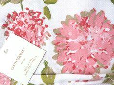 CYNTHIA ROWLEY Set of 2 KITCHEN TEA DISH TOWELS FLORAL PINK NEW #CynthiaRowley
