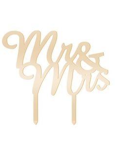 Mirror Gold Acrylic Wedding Cake Topper Party Decoration Cupcake Stand (Mirror Gold - Mr & Mrs(2))