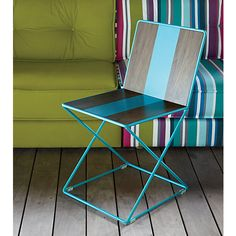 Breaker Chair | CB2 | solid powder coated steel, darling for a boy's room.