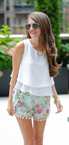Layered Chiffon Crop Top in White   southerncurlsandpearls