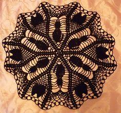 Black Cat Halloween Doily free pattern