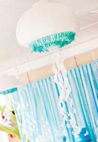 DIY jellyfish lantern - so fun for a kids party!