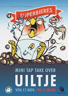 "Mini tap take over Brasserie ""Uiltje"" : too geek or not too geek November 17 @ 18:00 - 20:30"