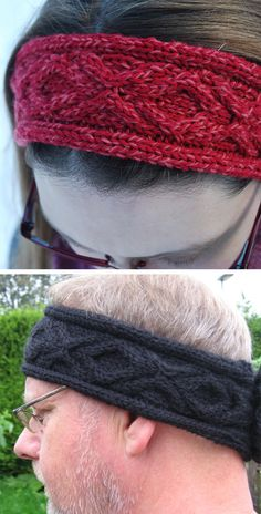 Free Knitting Pattern for XOXO Headband - Headband with hugs and kisses cable design. Worsted weight yarn. Designed by Amy O'Neill Houck. Pictured project by Lnand