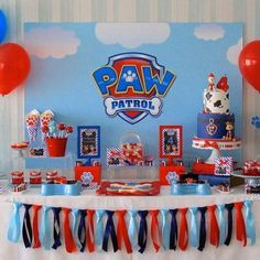 Paw Patrol Party Via Little Wish Parties Childrens Blog Dessert Table