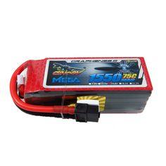 Potencia Gigante DINOGY MEGA GRAPHENE 2.0 1550mAh 14.8V 75C Batería de Lipo
