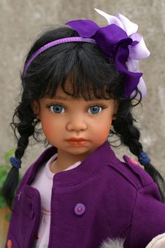 This is gorgeous Pauline by Angela Sutter, a one of a kind vinyl doll, will stand alone, human hair and beautiful blue eyes. See more of her at www.dollconnectionstore.com All the work is done by the artist herself, just beautiful dolls. Shipping and layaway worldwide!