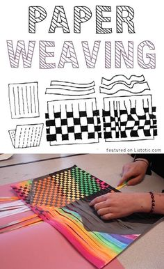 Of The BEST Crafts For Kids To Make (projects for boys & girls!) Paper Weaving -- 29 fun crafts for kids that adults will actually enjoy doing, too!Paper Weaving -- 29 fun crafts for kids that adults will actually enjoy doing, too! Crafts For Kids To Make, Projects For Kids, Art For Kids, Simple Projects, Classe D'art, Paper Weaving, Straw Weaving, Weaving Art, Weaving For Kids