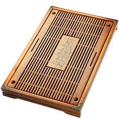Tea Talent Reservoir & Drainage Type Solid Wood Tea Tray - Japanese / Chinese Gongfu Tea Table Serving Tray Box for Kungfu Tea Set 21.2 x 13.4 x 1.96 Inch, Original Color >>> Check out this great product.