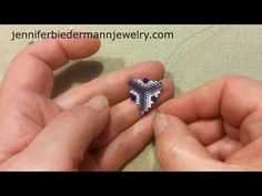 Crystal pyramid triangle, Lets have fun with peyote part 2 - YouTube