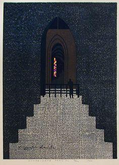 Notre-Dame Paris (C) by Kiyoshi Saito, woodblock print, 1962.