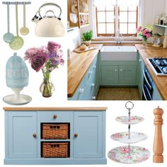 White Duck Egg Blue Modern Retro Kitchen Home And