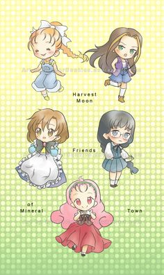 HM: Mineral Town Women~ by WinterCookies on DeviantArt