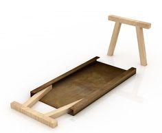 Mastro Work Table for De Castelli by Italian Studio Gum Design