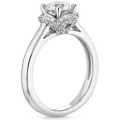The 18K White Gold Fleur Diamond Ring #BrilliantEarth