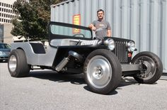 Buddy from high school and his Hemi Jeep-Rod. Green Jeep, Pink Jeep, Black Jeep, Jeep Rat Rod, Rat Rods, Jeep Scout, Blue Jeep Wrangler, Jeepster Commando, Used Jeep