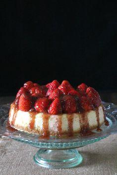 Cheesecake de fresas y lima