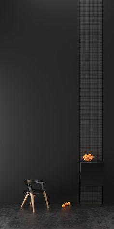 Black Interior Design, Interior Paint, Interior Styling, Orange Interior, Contemporary Interior, Dark Interiors, Colorful Interiors, Wall Design, House Design