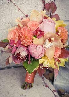 Orange Hues Bridal Bouquet