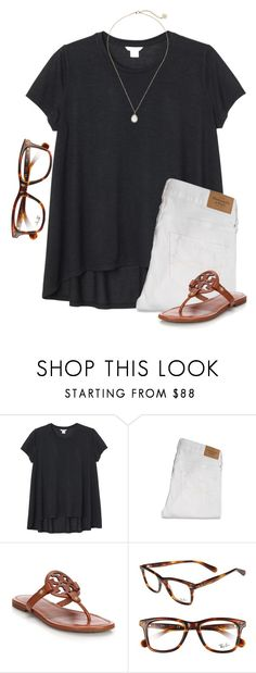 """Hello from the outside..."" by meljordrum ❤ liked on Polyvore featuring Monki, Abercrombie & Fitch, Tory Burch, Ray-Ban and Kendra Scott"