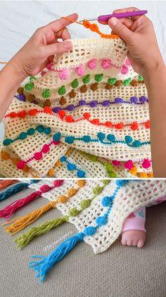 Легкая вышивка крестиком с помпоном | CrochetBeja